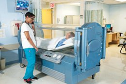 Mary Greeley will soon have two hyperbaric oxygen chambers like the one seen in this photo.