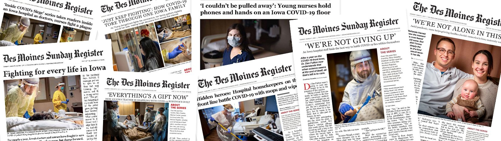 Over the past few months, Mary Greeley Medical Center opened its doors to the Des Moines Register, allowing us to tell stories of dedication, sacrifice, exhaustion, loss, pain and joy from inside the hospital.