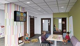 The new Pediatrics Playroom
