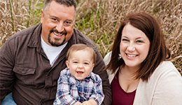 The Peterson Family - small family photo preview